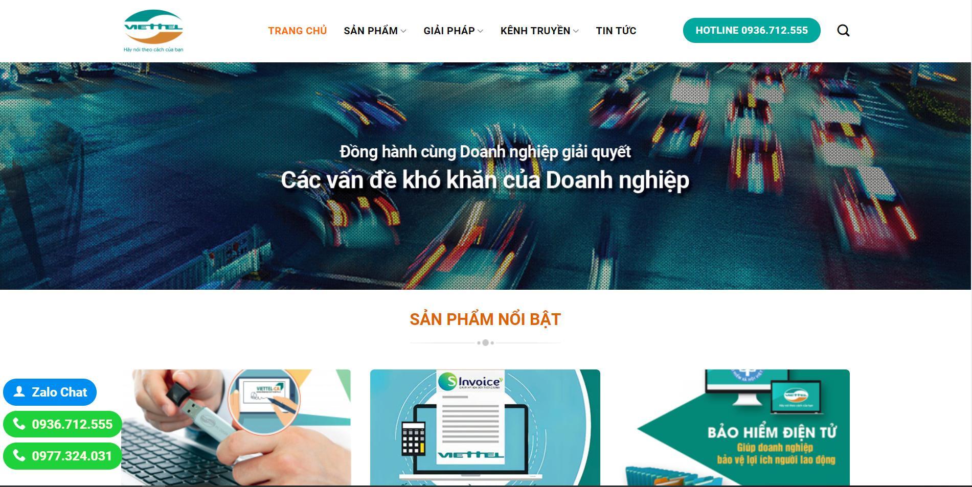 Viettel Tin Tức – Mẫu web dịch vụ