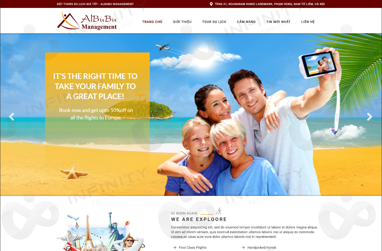 Thiết kế mẫu website du lịch