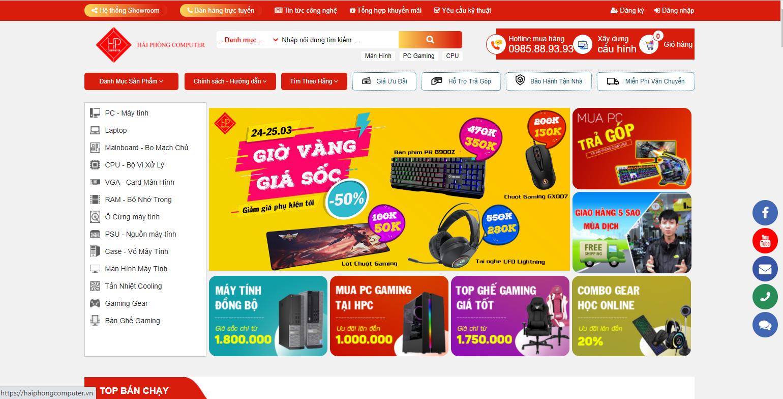 Thiết kế web bán hàng Máy Tính 2020