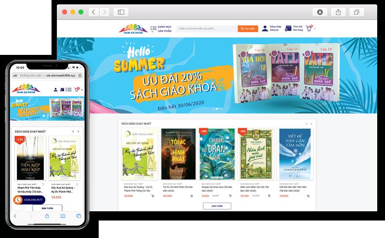 Thiết kế website Bán sách Nam An Book
