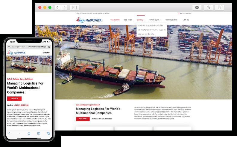 Thiết kế website giới thiệu công ty vận tải A.Shico